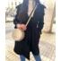 Kép 1/3 - Sydney kabát megkötővel - fekete