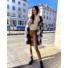 Kép 3/3 - Lyon hosszított, kockás, gyapjú kabát - szürke-barna