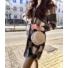 Kép 1/3 - Lyon hosszított, kockás, gyapjú kabát - szürke-barna
