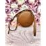 Kép 1/2 - Desert Rose kör alakú táska - barna