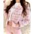 Kép 2/2 - Tweed blézer, arany gombokkal - rózsaszín