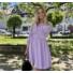 Kép 2/3 - Beverly ruha övvel - lila