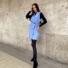 Kép 2/2 - Paris ruha megkötővel - kék