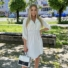 Kép 1/4 - Beverly ruha övvel - fehér