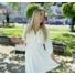 Kép 3/4 - Beverly ruha övvel - fehér