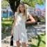 Kép 1/3 - Malibu ruha fodorral - fehér
