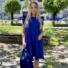 Kép 1/4 - Malibu ruha fodorral - sötétkék