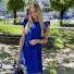 Kép 2/4 - Malibu ruha fodorral - királykék