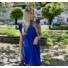 Kép 4/4 - Malibu ruha fodorral - királykék