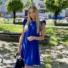 Kép 3/4 - Malibu ruha fodorral - királykék