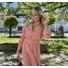 Kép 3/3 - Beverly ruha övvel - lazac