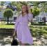 Kép 1/3 - Beverly ruha övvel - lila