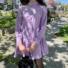 Kép 2/2 - Aspen hosszú ujjú ruha fodorral - lila