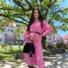 Kép 2/2 - Brooks ingruha - pink (öv nélkül)