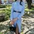 Kép 2/2 - Brooks ingruha - babakék (öv nélkül)