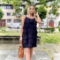 Kép 1/2 - Macaron fodros ruha - fekete