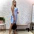 Kép 2/3 - Strap keresztpántos szatén ruha - babakék