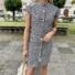 Kép 2/3 - Dublin kockás ruha övvel