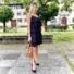 Kép 2/2 - Macaron fodros ruha - fekete