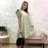 Kép 2/3 - Malibu ruha fodorral - lime zöld