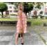 Kép 3/3 - Macaron fodros ruha - rózsaszín