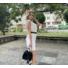 Kép 2/4 - June fodros ruha övvel - fehér