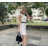 Kép 4/4 - June fodros ruha övvel - fehér