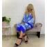Kép 4/12 - Mykonos szett - kék (nadrág + top + kimonó)