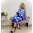 Kép 1/5 - Mykonos szett - kék (nadrág + top + kimonó)