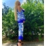 Kép 5/12 - Mykonos szett - kék (nadrág + top + kimonó)