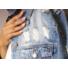 Kép 5/8 - Brooklyn hosszított, szaggatott farmer dzseki