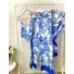 Kép 6/12 - Mykonos szett - kék (nadrág + top + kimonó)