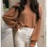 Kép 2/2 - Sydney kötött pulóver - barna