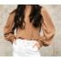 Kép 1/2 - Sydney kötött pulóver - barna