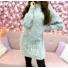 Kép 1/2 - Extra puha kötött ruha - világosszürke