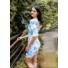 Kép 1/3 - Rosemary ruha - kék