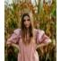 Kép 1/2 - Nevada fodros ruha - rózsaszín