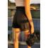 Kép 2/2 - Bőrhatású rövidnadrág - fekete
