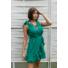 Kép 1/2 - Toscana fodros ruha - zöld