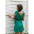 Kép 2/2 - Toscana fodros ruha - zöld
