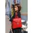 Kép 2/2 - Piros bőr táska