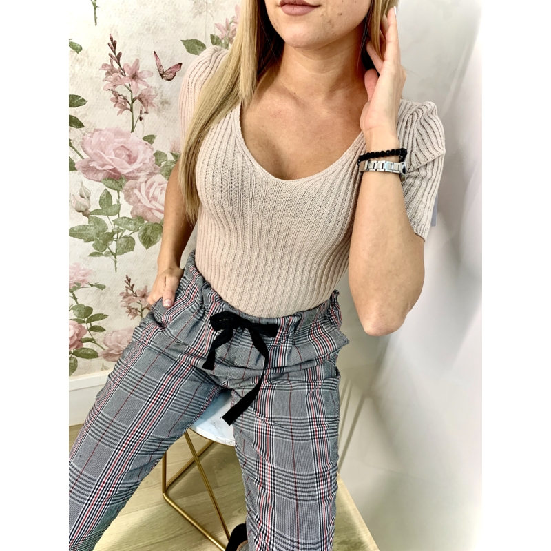 Knitted top - bézs