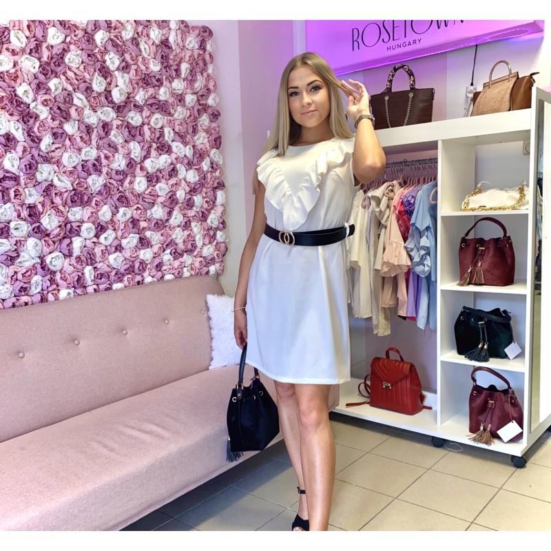 June fodros ruha övvel - fehér