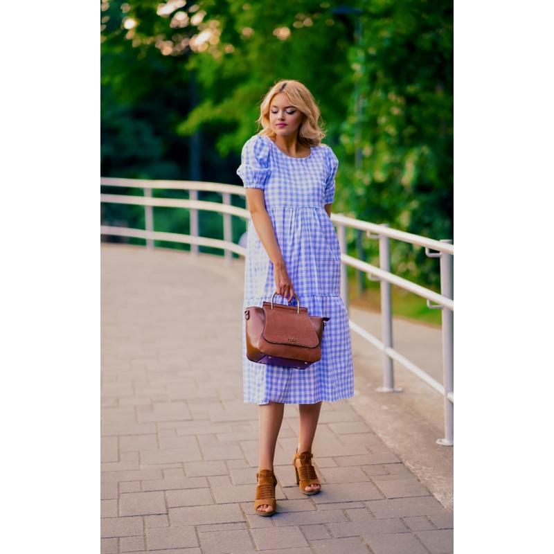 Austin kockás ruha - kék
