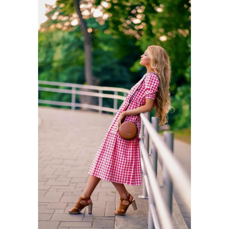 Austin kockás ruha - piros