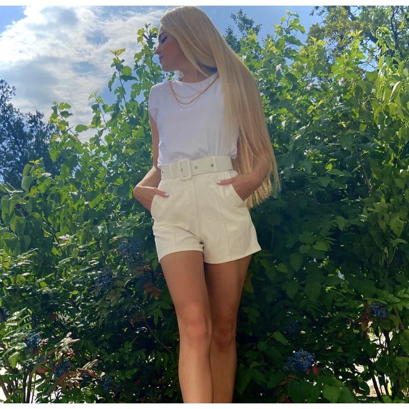 Sevilla rövidnadrág övvel - fehér