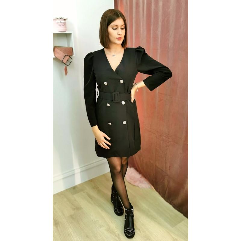Siena arany gombos, fekete ruha