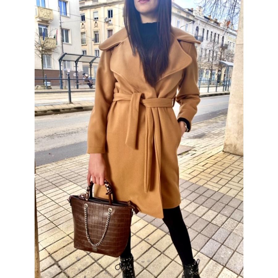 Sydney kabát megkötővel - barna