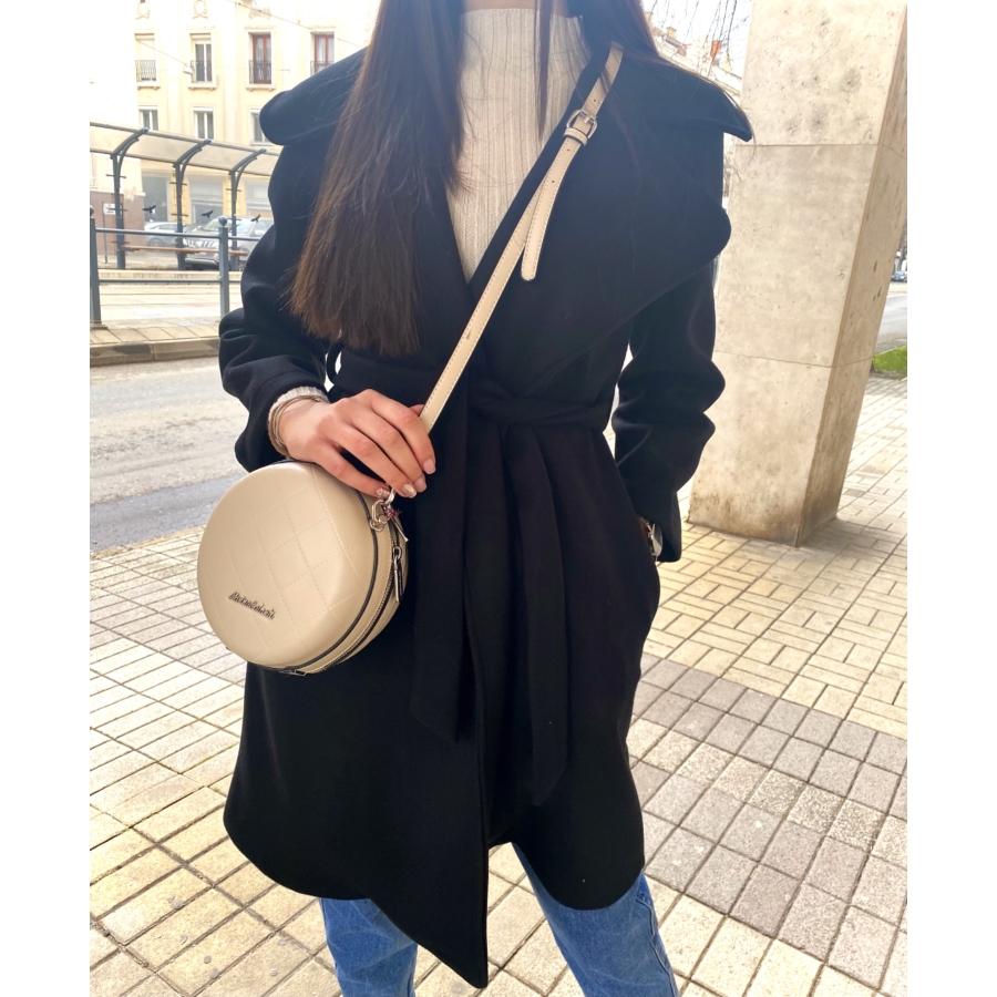 Sydney kabát megkötővel - fekete