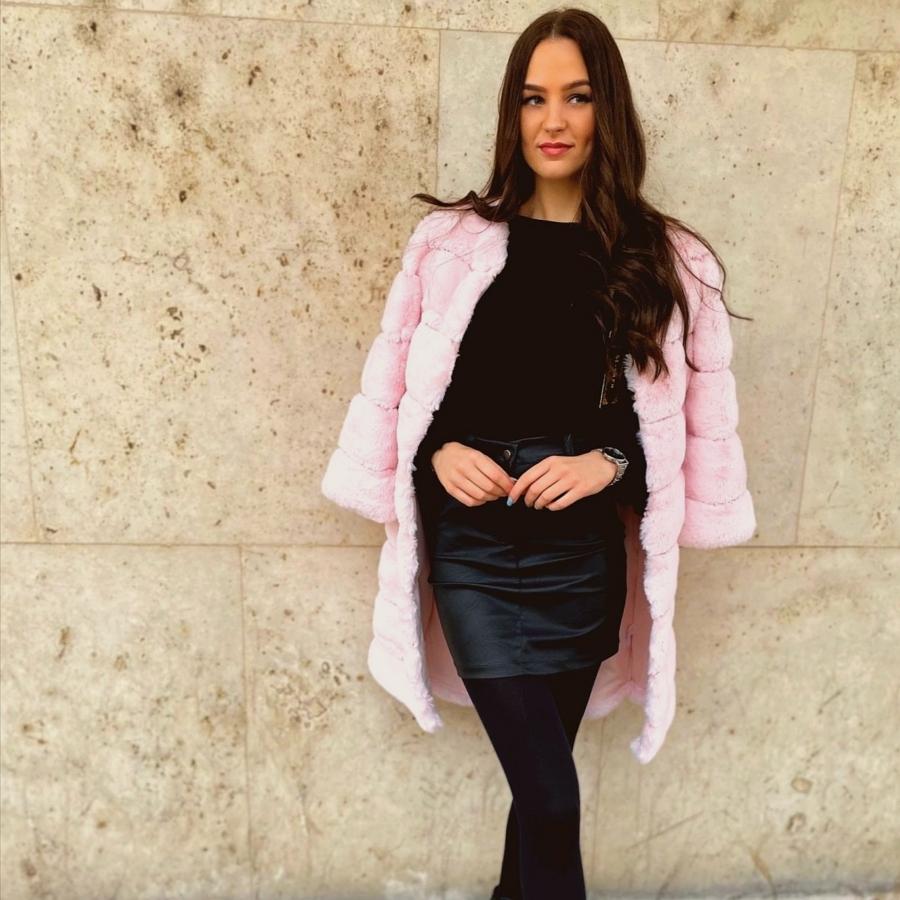 Pastel bunda - rózsaszín
